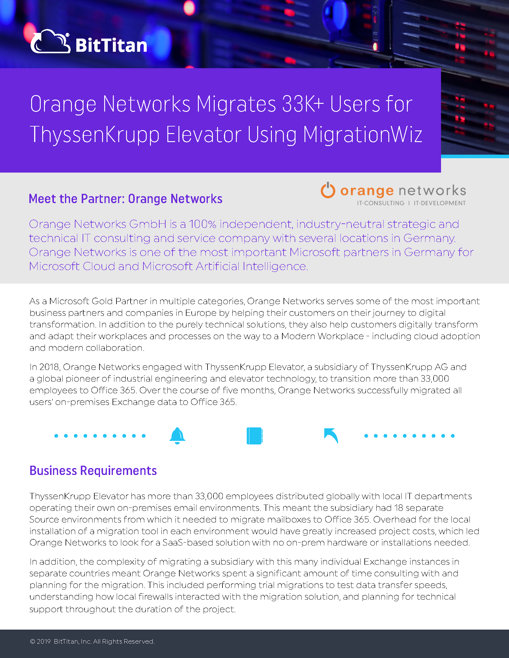 Orange Networks Migrates 33K+ Users for ThyssenKrupp Elevator Using MigrationWiz